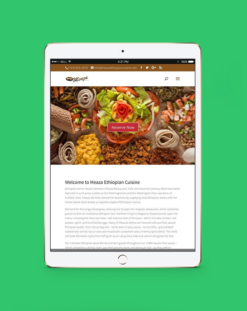 Meaza Screenshot using web development ppc seo by ask the egghead