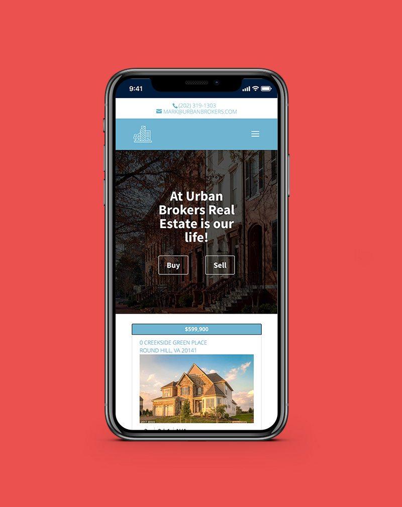 Urban Brokers Screenshot using wordpress web development