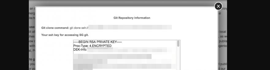 Selecting your RSA key.