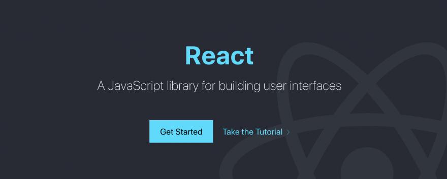 The React Homepage.