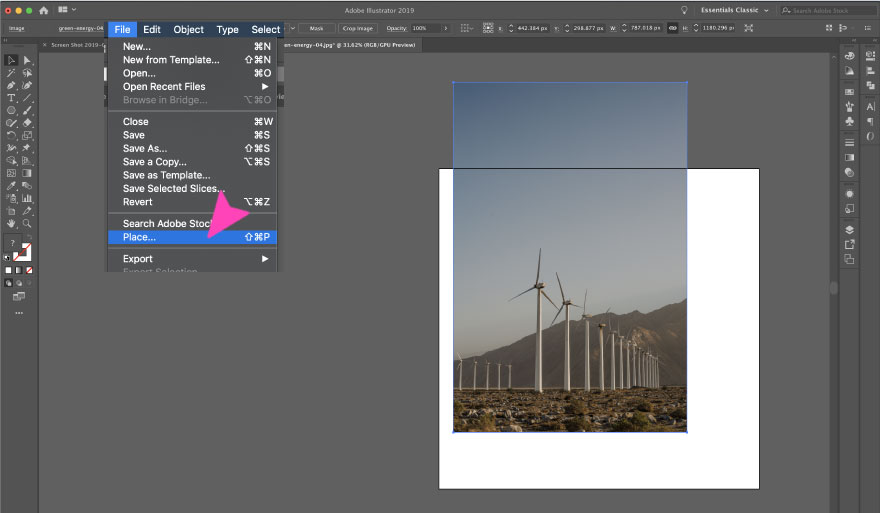 How to Crop an Image in Adobe Illustrator CC