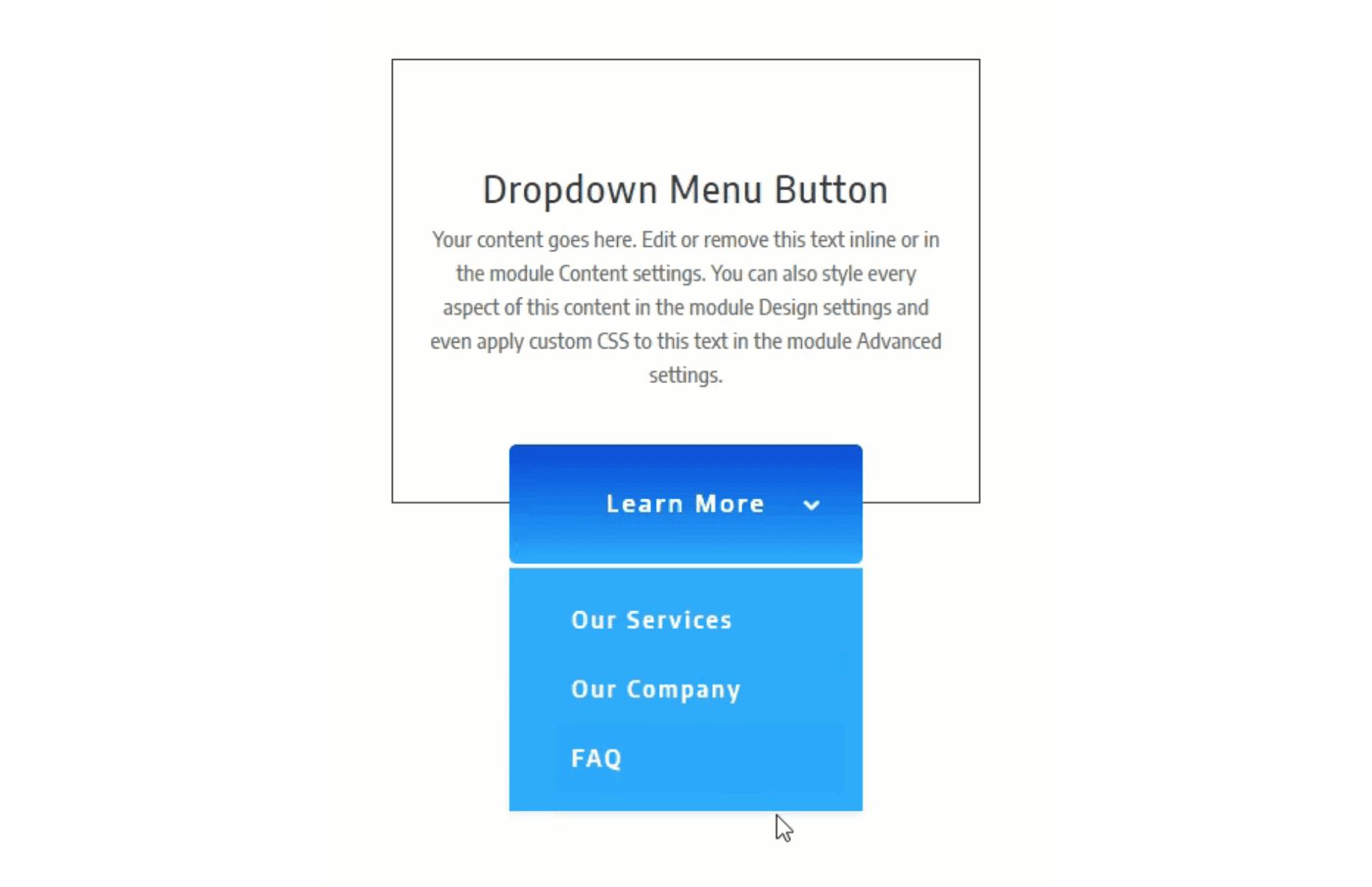 How to Create a Dropdown Menu Button Using Divi's Fullwidth Menu Module