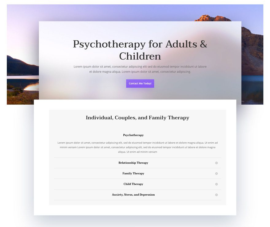 Get a Psychologist Layout Pack for Divi