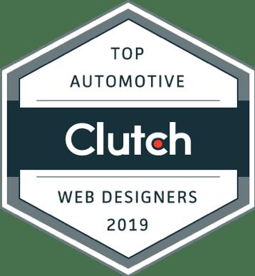 Top Automotive Web Designers Award Clutch Image