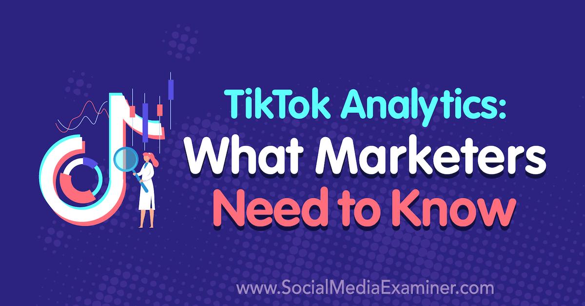 TikTok Analytics: What Marketers Need to Know