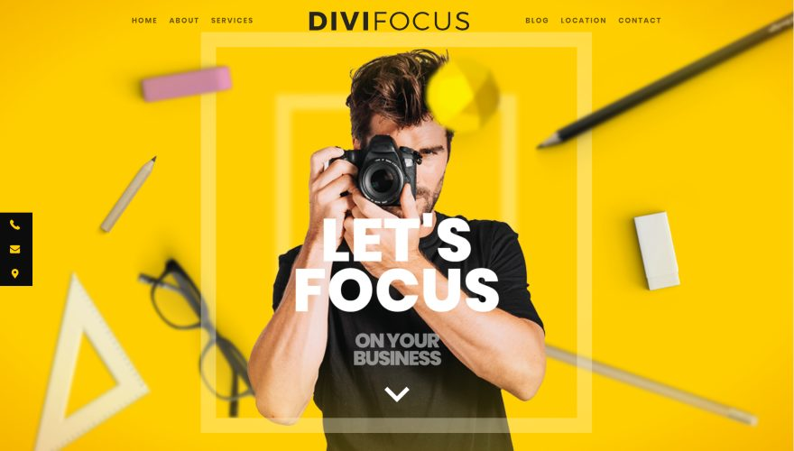 DiviFOCUS Photographer Theme Divi