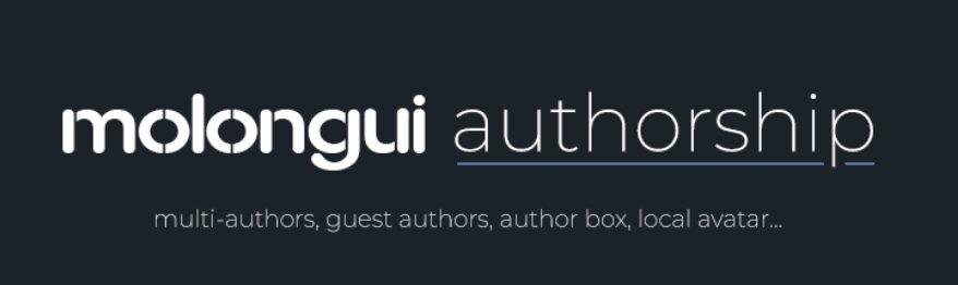 The Molongui Author Box WordPress plugin.