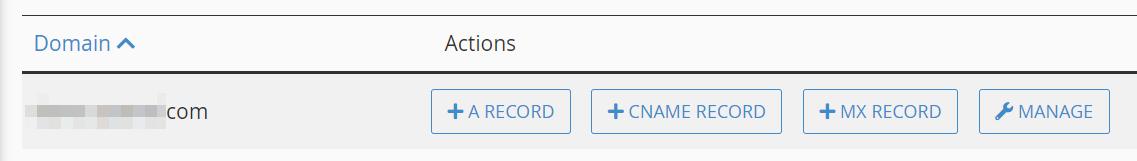 Adding a new MX record.