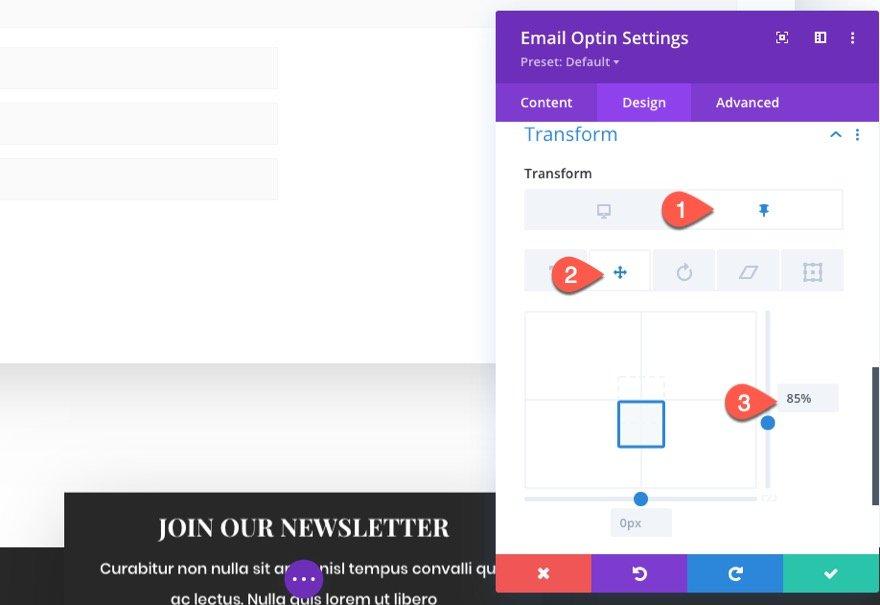 sticky email optin