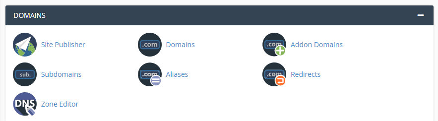 Accessing the Zone Editor tool inside cPanel.