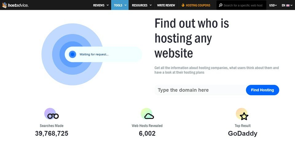 hostadvice hosting checker