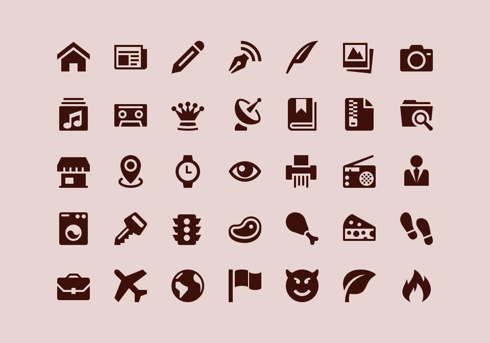 IcoMoon's free icons.