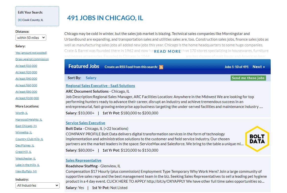 The SalesJobs jobs board.