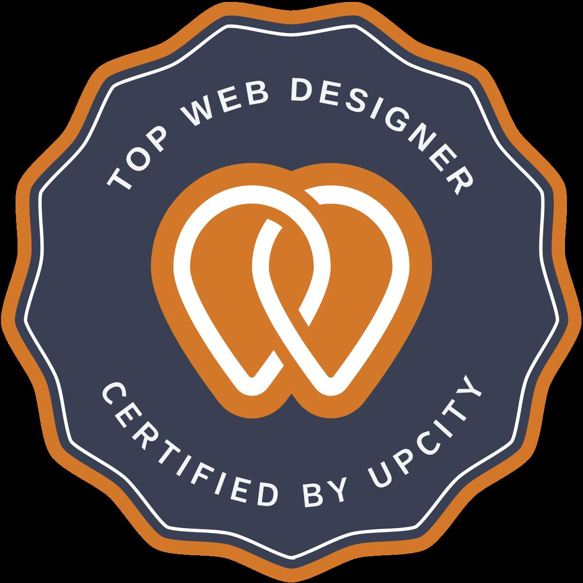 UpCity Award Badge Top Web Designer 2021