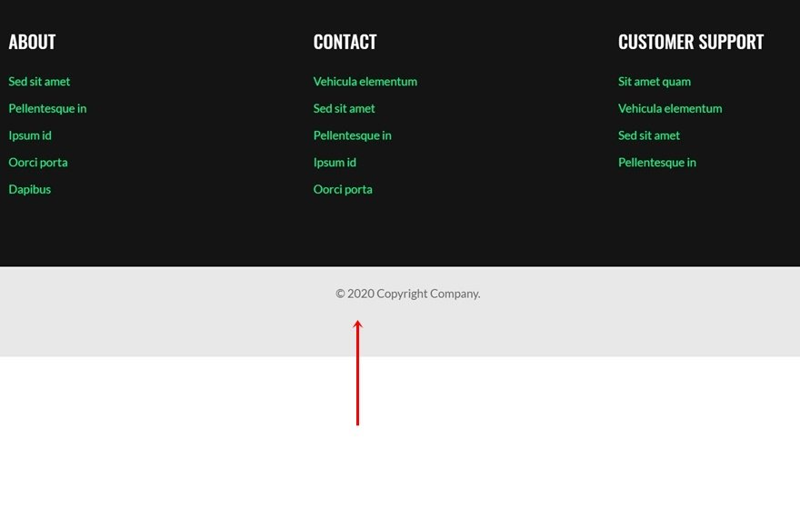 How to Interactively Highlight Contact Details in Your Global Footer with Divi