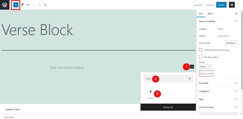 How to Use the WordPress Verse Block