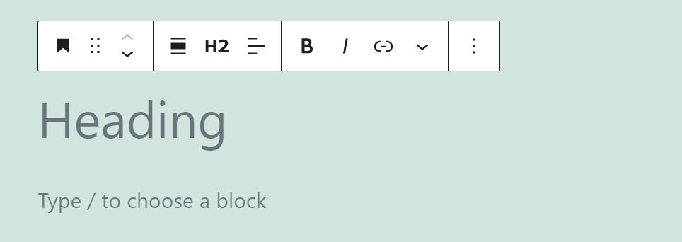 The Header block