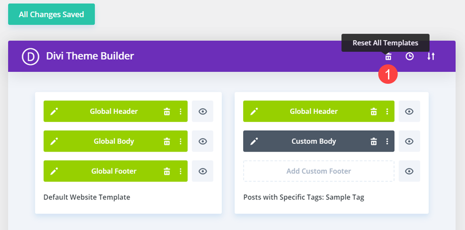 How to Reset All Templates in the Divi Theme Builder