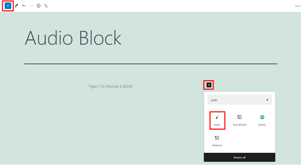 How to Use the WordPress Audio Block
