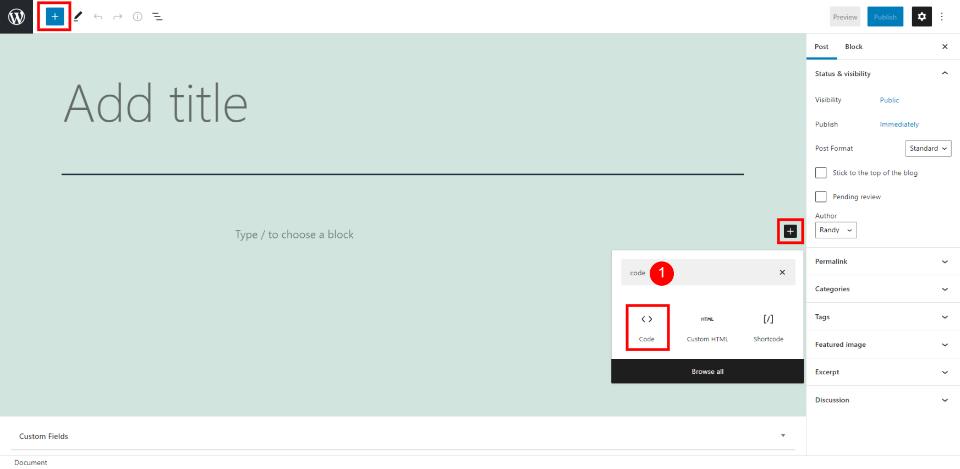 How to Use the WordPress Code Block
