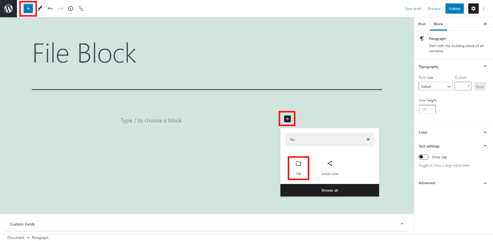 How to Use the WordPress File Block