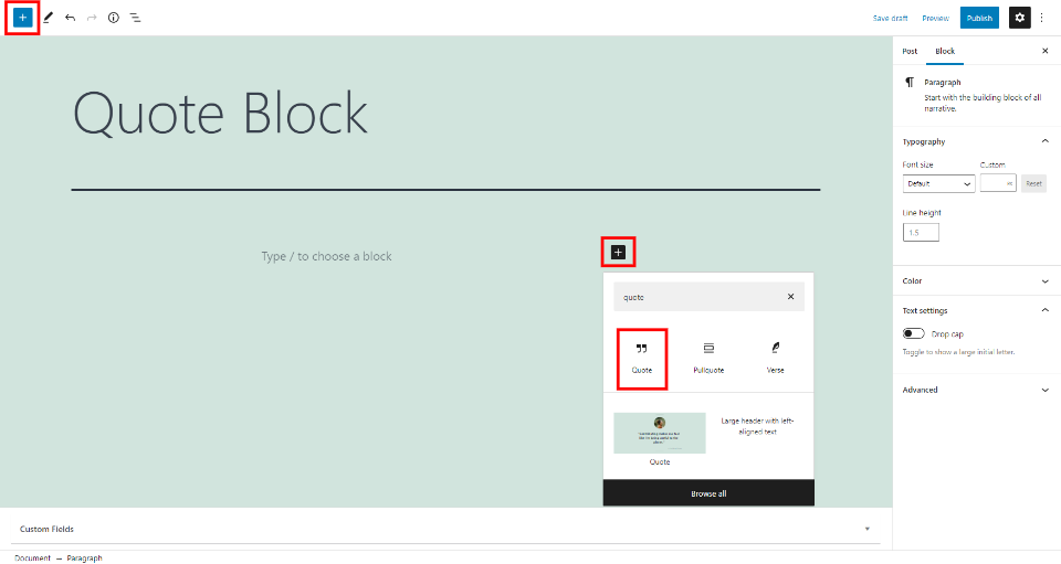 How to Use the WordPress Quote Block