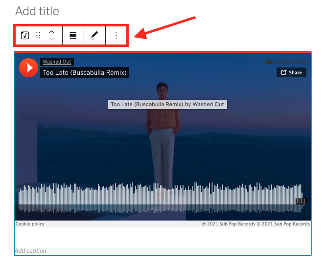 How to Use the SoundCloud Embed Block