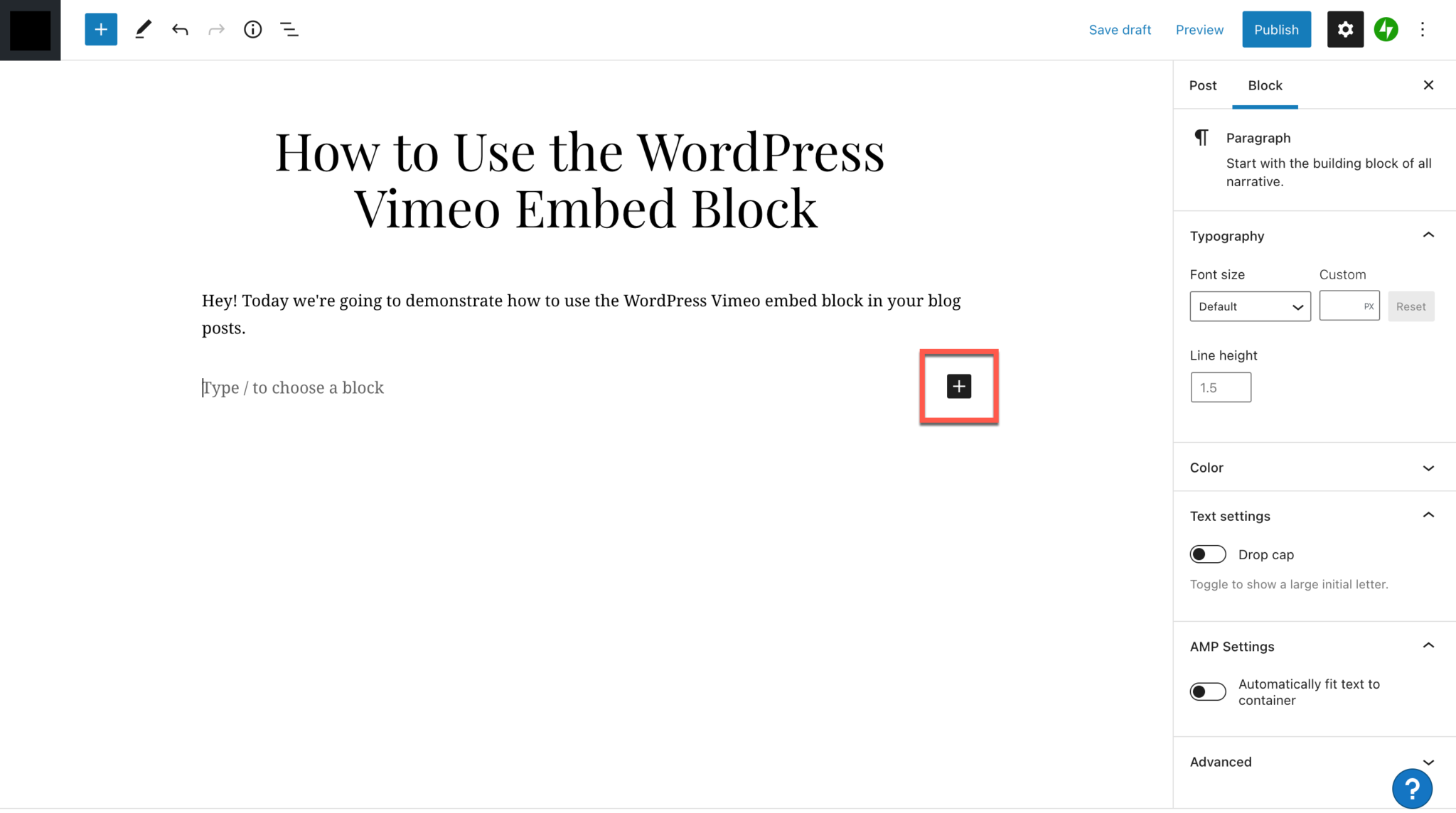 How to Use the WordPress Vimeo Embed Block